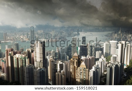 Hong Kong island from Victoria's Peak