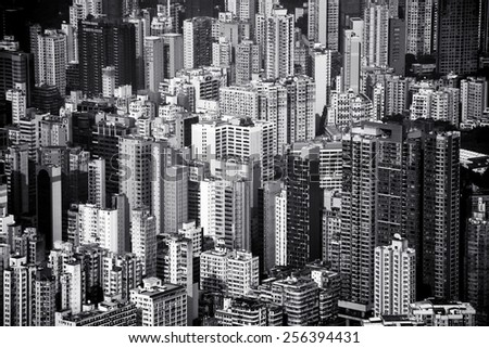 HONG KONG - JANUARY 23 : Scene of the Hong Kong City on January 23, 2015 in Hong Kong. - stock photo