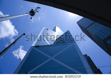 "HONG KONG - JULY 5: Bank of China tower on July 5, 2011 in Hong Kong. 367 meter ""BOC"" is 3rd tallest building of Hong Kong and 12th tallest in the world. - stock photo"