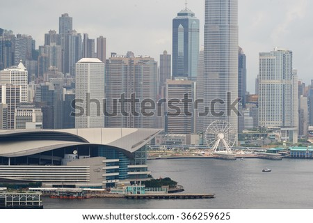 HONG KONG - JUNE 01, 2015: view of Hong Kong. Hong Kong, is an autonomous territory on the southern coast of China at the Pearl River Estuary and the South China Sea
