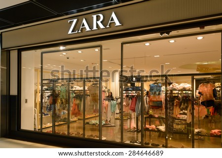 HONG KONG- JUNE 02: ZARA Store on JUNE 02, 2015 in Hong Kong. Zara is a Spanish clothing and accessories retailer.