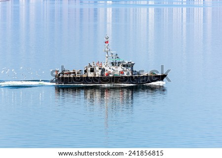 Hong Kong Marine Police small patrol boats - stock photo