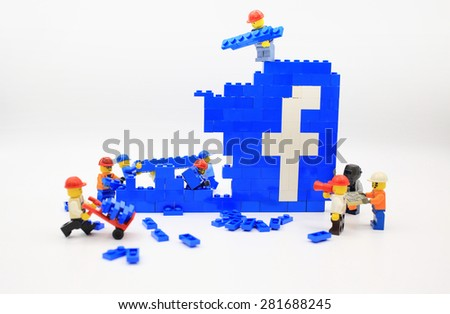 HONG KONG, MAY 25: Studio shot of Lego people, combine from different set in hong kong on 25 May 2015.Legos are a popular line of plastic construction toys manufactured by The Lego Group in Denmark - stock photo