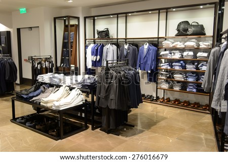 HONG KONG - MAY 05, 2015: Zara store interior. Zara is a Spanish clothing and accessories retailer based in Arteixo, Galicia, and founded in 1975