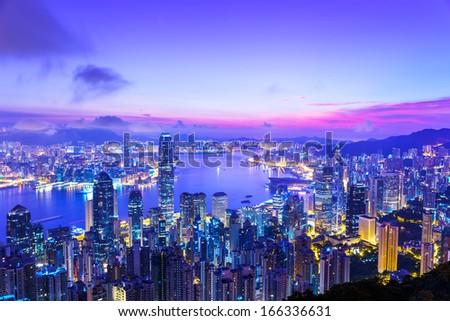 Hong Kong morning - stock photo