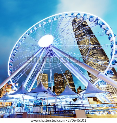 Hong Kong Observation Wheel - stock photo