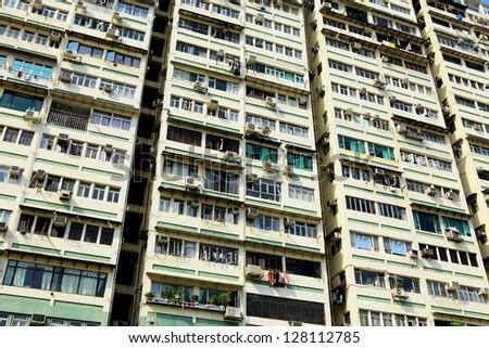 Hong Kong old building - stock photo