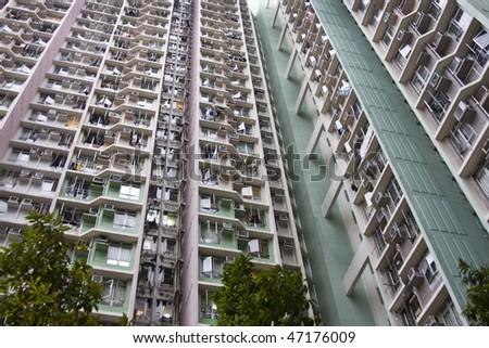 hong kong pubilc house - stock photo
