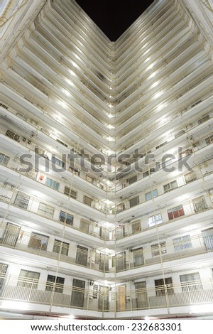 Hong Kong public estate - stock photo