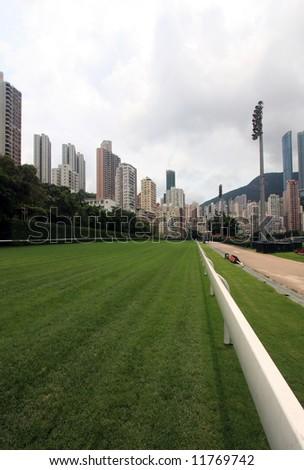 Hong Kong Race Course - stock photo