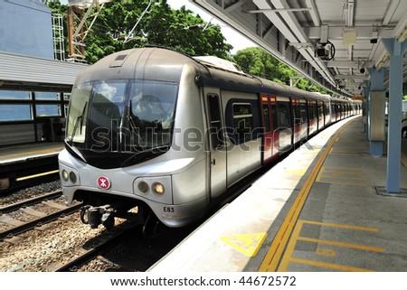 Hong Kong Railway - stock photo