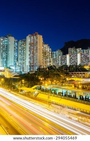 Hong Kong residential area - stock photo