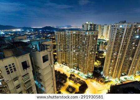 Hong Kong residential building - stock photo