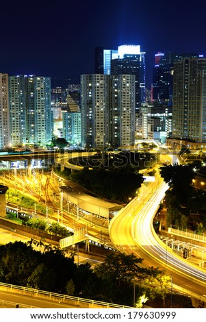 Hong Kong residential district - stock photo