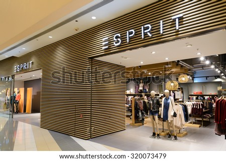 HONG KONG - SEPT 24, 2015: Esprit store; Esprit is a publicly owned manufacturer of clothing, footwear, accessories, jewellery and housewares; Esprit operates more than 770 retail stores worldwide.