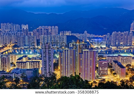 Hong Kong Sha Tin at Night
