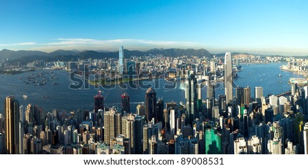 Hong kong topview - stock photo