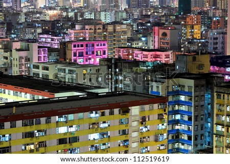 Hong Kong urban at night