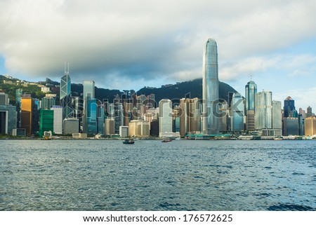 Hong Kong View from Victoria Harbour