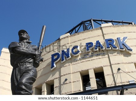 Honus Wagner Statue at PNC Park Entrance - stock photo