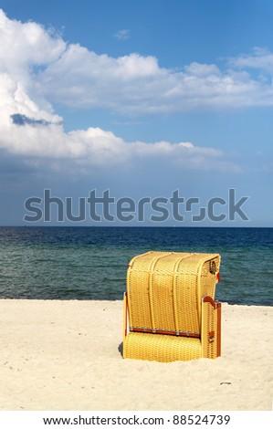 Hooded Beach Chair - stock photo