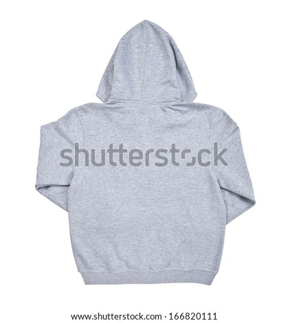 Hooded sweater isolated on white background back view