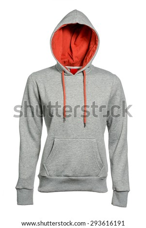 hooded sweatshirt on a white background