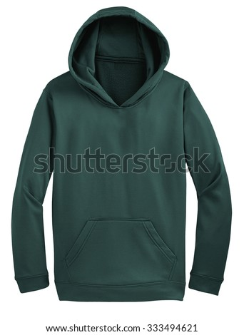 hoodie isolated on white background - stock photo