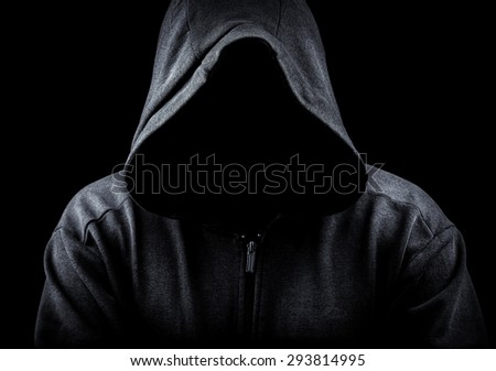 Hoodie on a black backgroun - stock photo