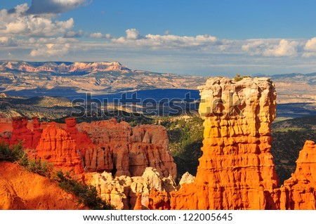 Hoodoo rock formation in Bryce Canyon national park, Utah - stock photo