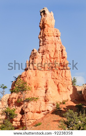 hoodoo(strange rock formation created by erosion) in Bryce Canyon National Park, Utah - stock photo