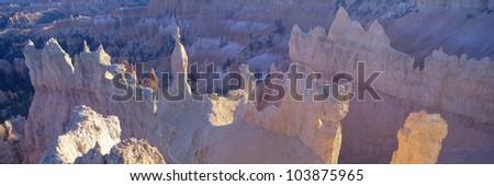 Hoodoos at Sunrise, Bryce Canyon National Park, Southern Utah - stock photo