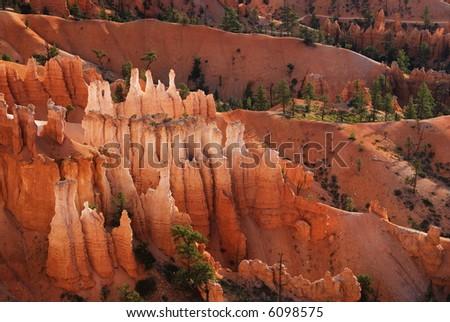 Hoodoos, Bryce Canyon National Park - stock photo