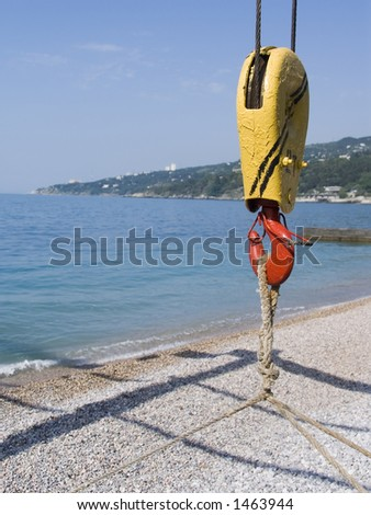 Hook for rise of boats from the sea - stock photo