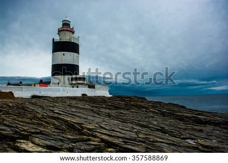 Hook Head Lighthouse near Waterford in Ireland - stock photo