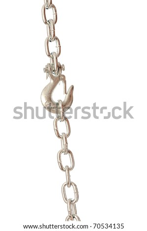 hook on the chain suspended on a chain