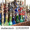 Hookah in souvenir shop at  UAE - stock photo