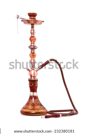 Hookah ( Water pipe ) isolated on a white background - stock photo