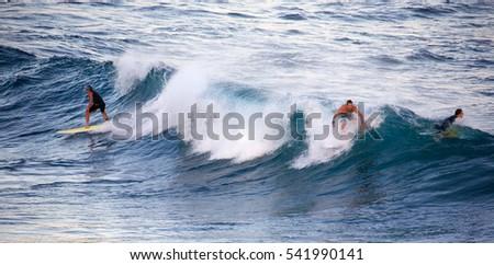 HOOKIPA HAWAII DECEMBER 1 2015 Group Stock Photo Royalty Free