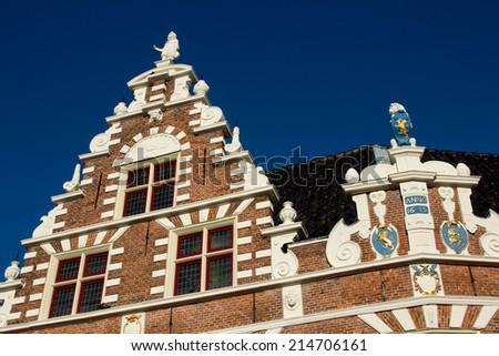 hoorn birthplace of the Dutch navigators netherlands - stock photo