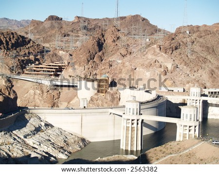 hoover dam - stock photo