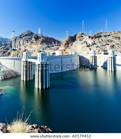 Hoover Dam, Arizona-Nevada, USA - stock photo