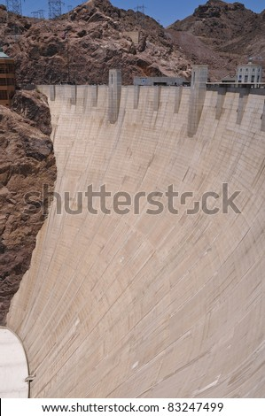 Hoover Dam on a Colorado River between Arizona and Nevada