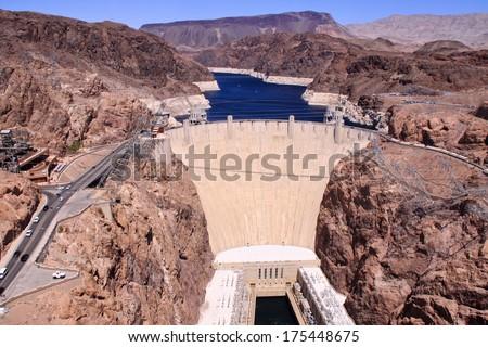 Hoover Damm in Nevada - stock photo
