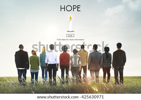 Hope Belief Believe Imagine Praying Trust Temple Concept - stock photo