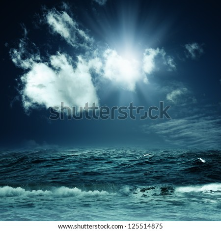 Hope is far away. Abstract dramatic backgrounds for your design - stock photo