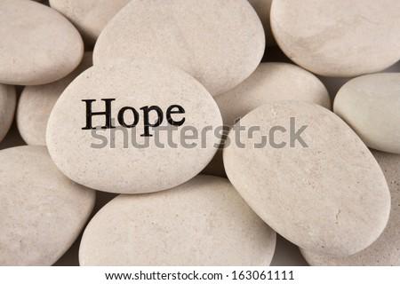 Hope stone - stock photo