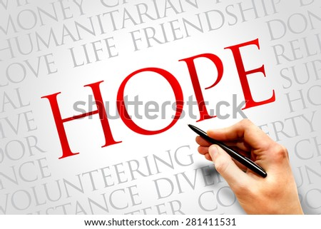 Hope word cloud concept - stock photo