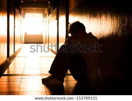Hopeless man. - stock photo