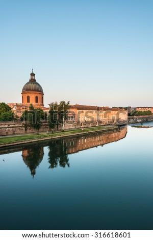 Hopital de La Grave, named for the sandy bank of the Garonne river where it was built in Toulouse, Haute-Garonne, Midi Pyrenees, France. - stock photo
